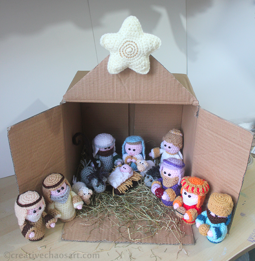 Crochet Patterns Nativity Scene : Creative Chaos Art: Christmas 2 Crochet Nativity Scene