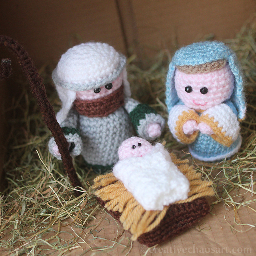 Creative Chaos Art: Christmas 2 Crochet Nativity Scene